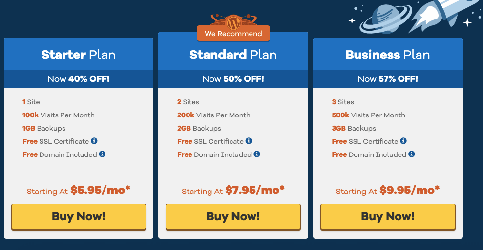 HostGator Black Friday 2019 Sale WordPress Hosting Pricing