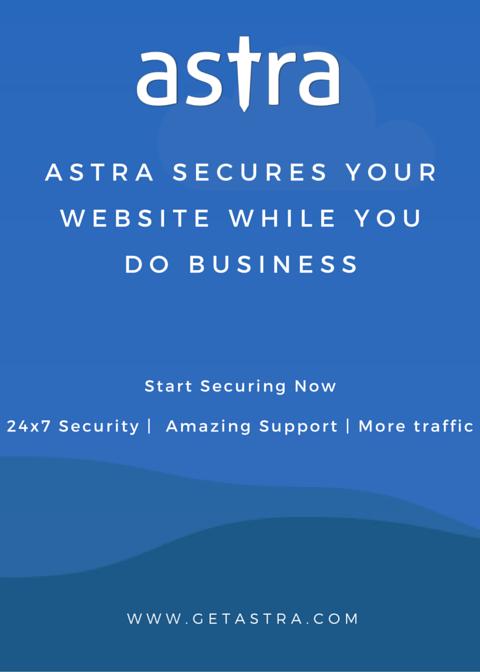 Show Astra Security Coupon