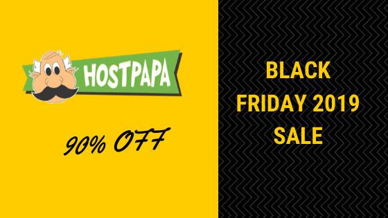 Hostpapa Black Friday 2019 sale