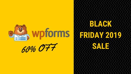Wp Forms Black friday 2019 Deals