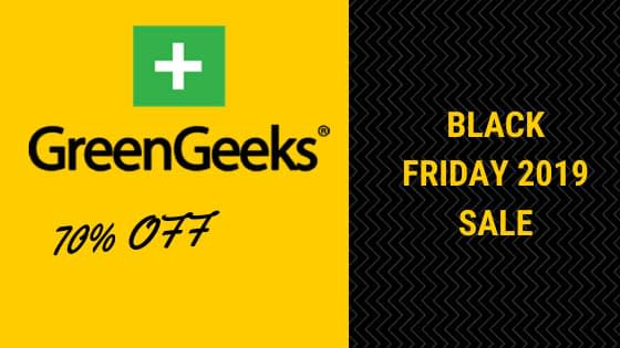 GreenGeeks Black Friday 2019 sale