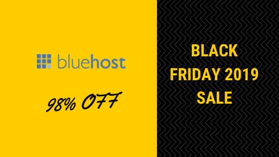 Bluehost Black Friday 2019