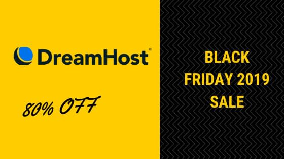 Dreamhost Black Friday 2019 sale