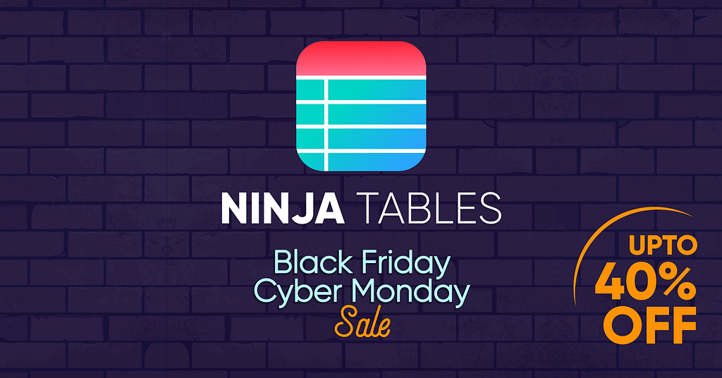 Ninja Tables Pro Black Friday Deal: [up to 40% OFF] 2