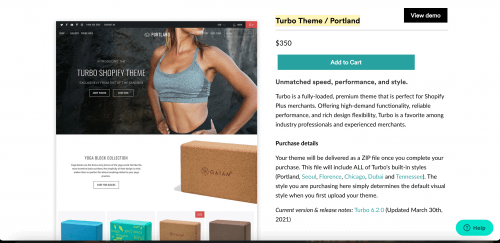 Turbo Theme / Portland