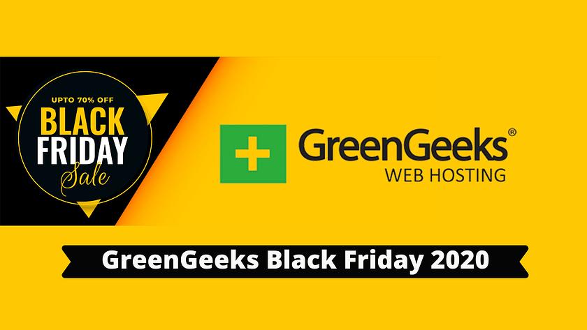 GreenGeeks Black Friday 2020