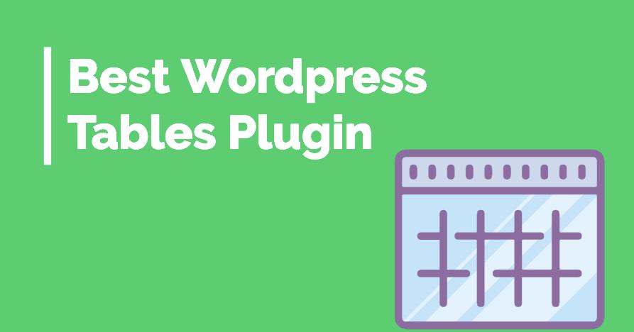 Best Wordpress Table Plugins 1