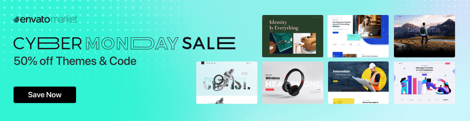 ThemeForest Black Friday 2020 Deals:[50% OFF] 1