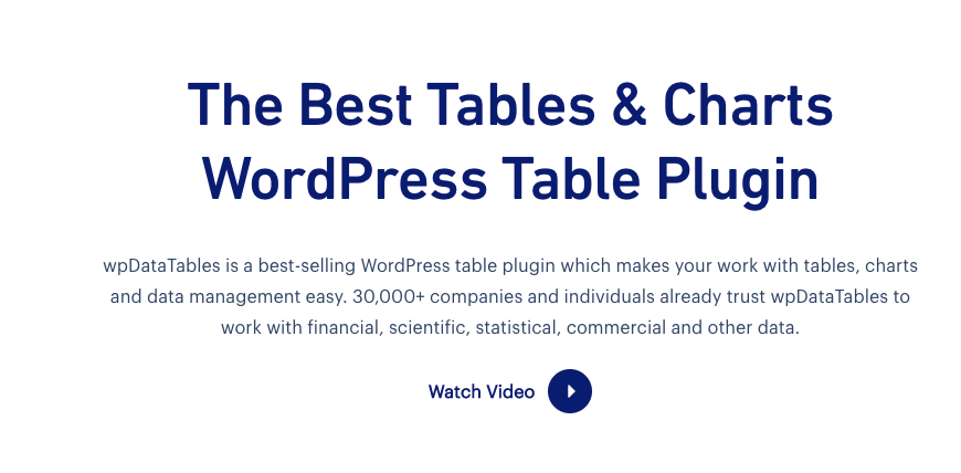 Best Wordpress Table Plugins 3